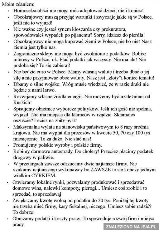 Proste postulaty naprawy państwa polskiego
