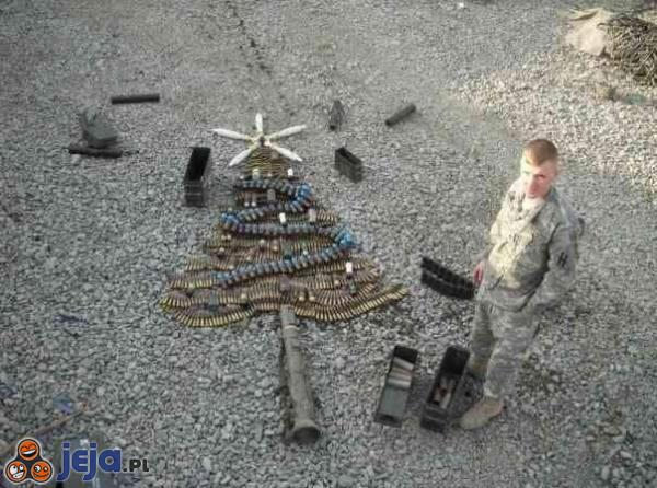 Wojskowa choinka