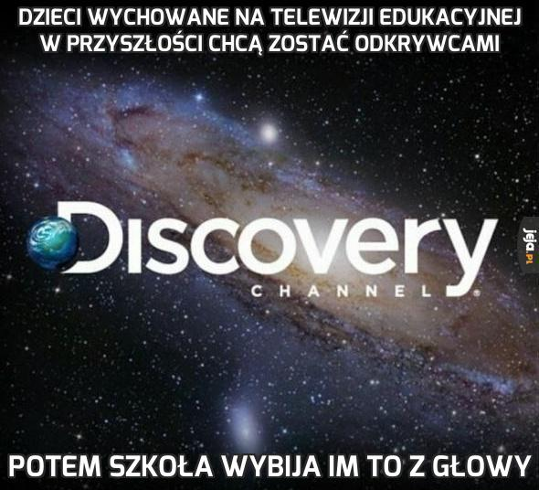 Dzieci wychowane na telewizji edukacyjnej w przyszłości chcą zostać odkrywcami