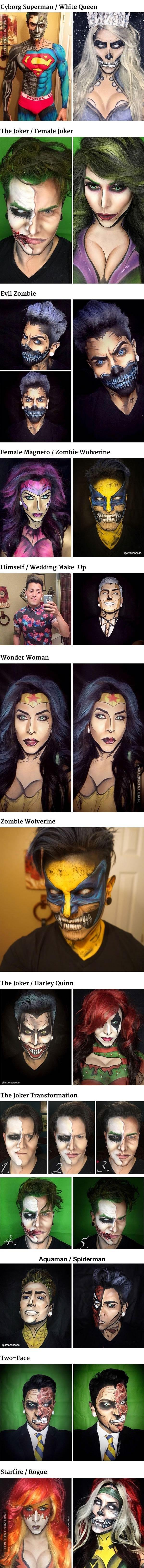 Cosplay za pomocą makijażu