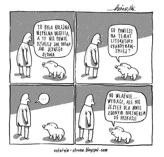 Wigilia i gadający zwierzak