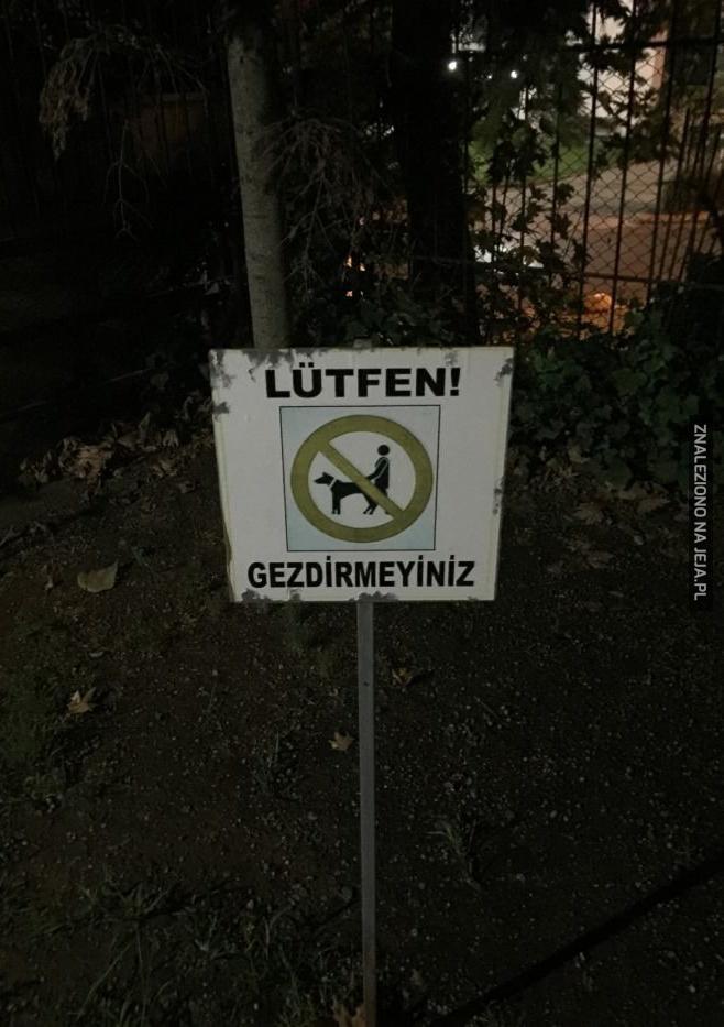 Zakaz gwałcenia psów...?