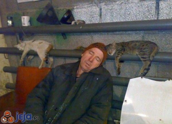 Śpiący bezdomni