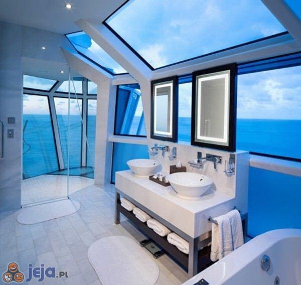 Łazienka nad oceanem