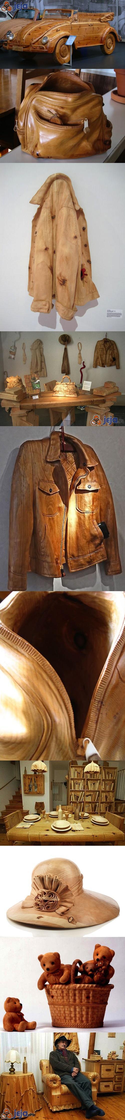 Realistyczne drewniane rzeźby cz2