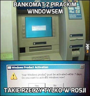 Bankomat z pirackim Windowsem