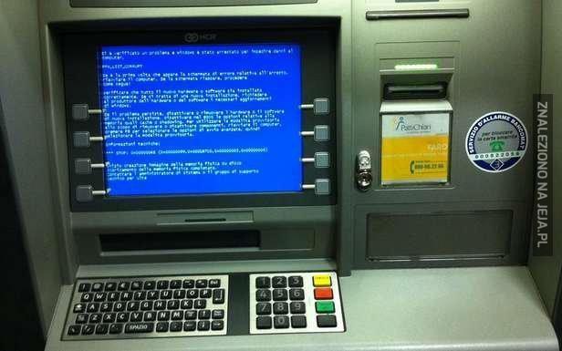 Tymczasem w bankomacie