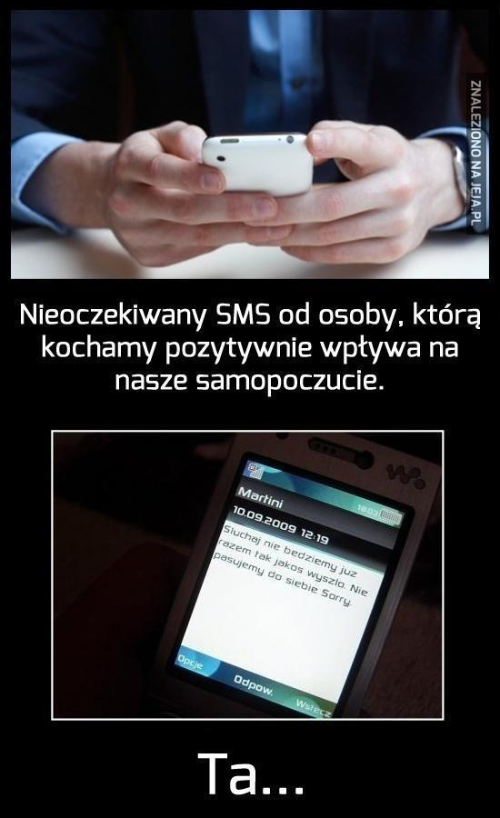 SMS od ukochanej osoby