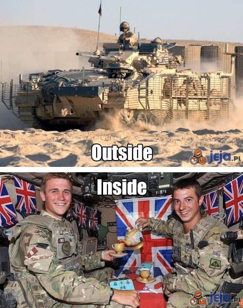 Wewnątrz brytyjskiego czołgu