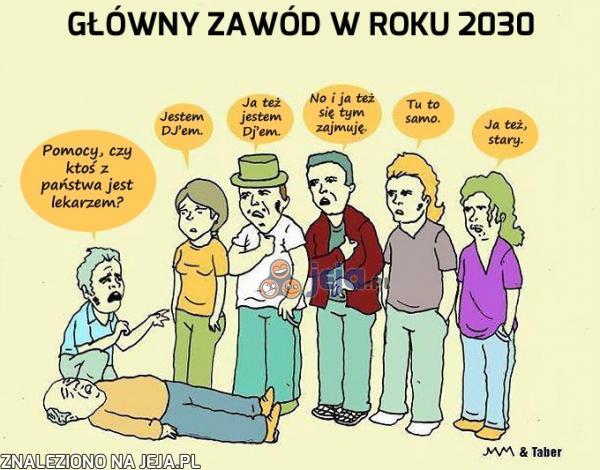 Główny zawód w roku 2030