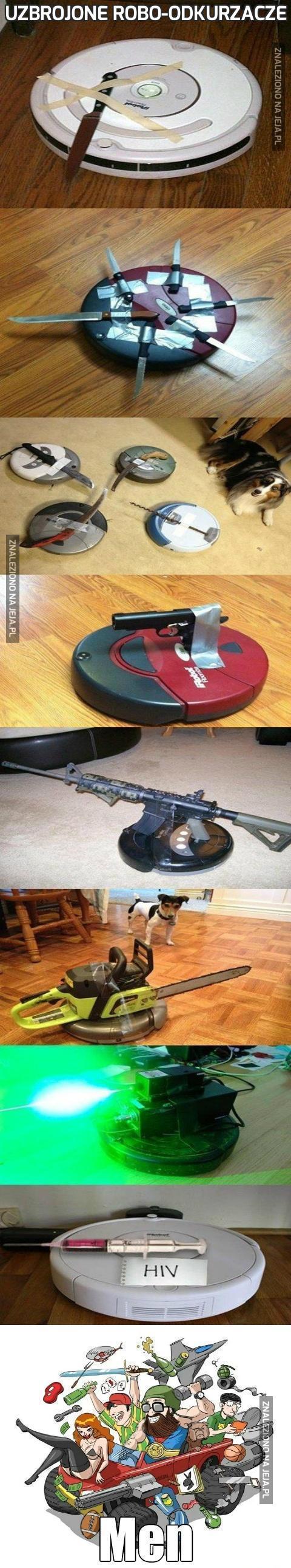 Uzbrojone robo-odkurzacze
