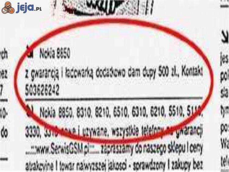 Nokia na sprzedaż