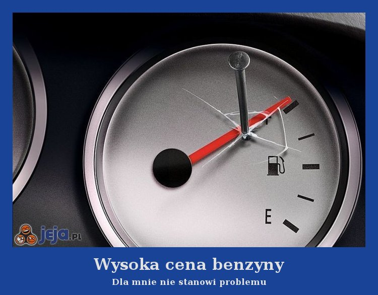 Wysoka cena benzyny