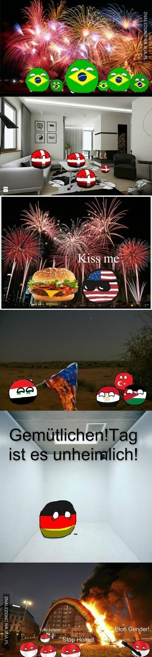 Święto niepodległości w różnych krajach