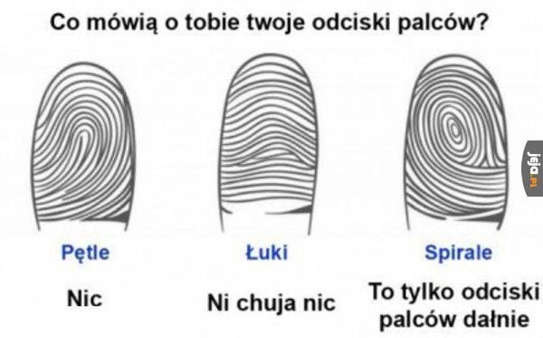 Co mówią o Tobie twoje odciski palców?