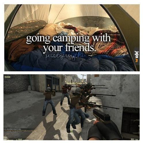 Kemping z przyjaciółmi