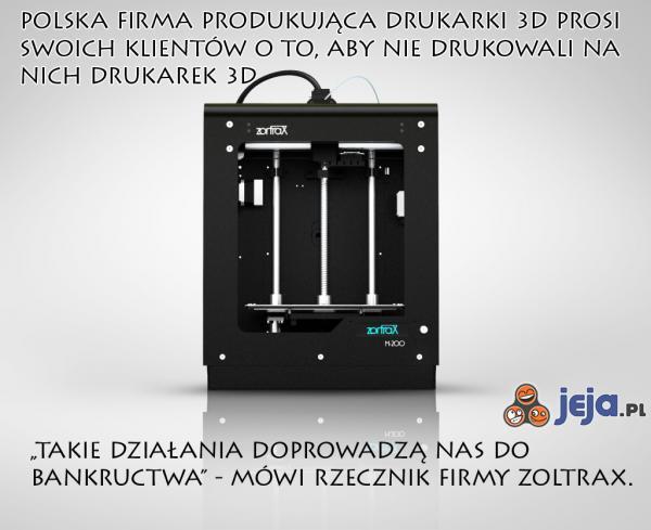 Polskie drukarki Zoltrax w tarapatach