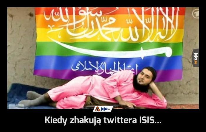 Kiedy zhakują twittera ISIS...