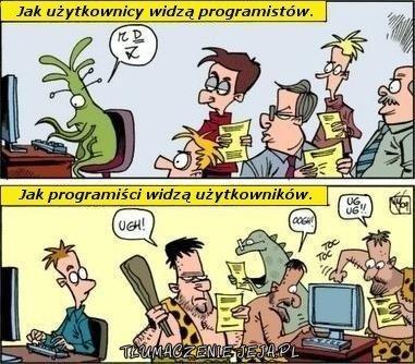 Użytkownicy vs programiści