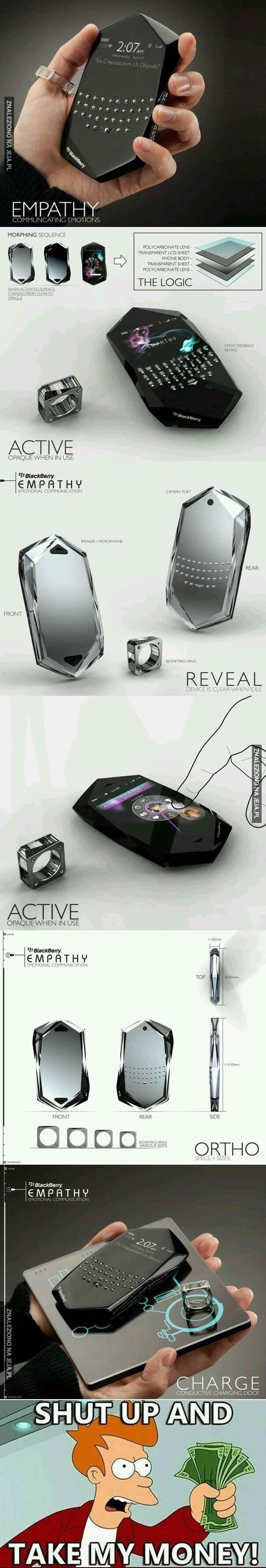 Koncept telefonu Blackberry
