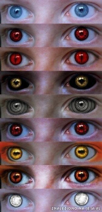 Oczy z Naruto
