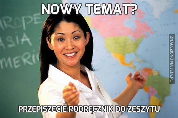 Nowy temat?