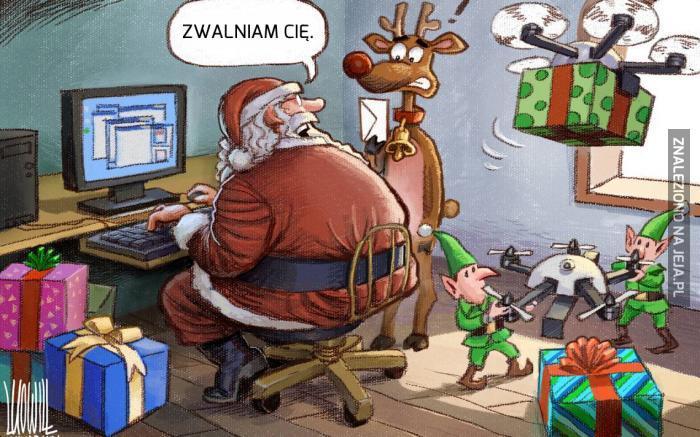 Nawet Mikołaj wysyła dronami