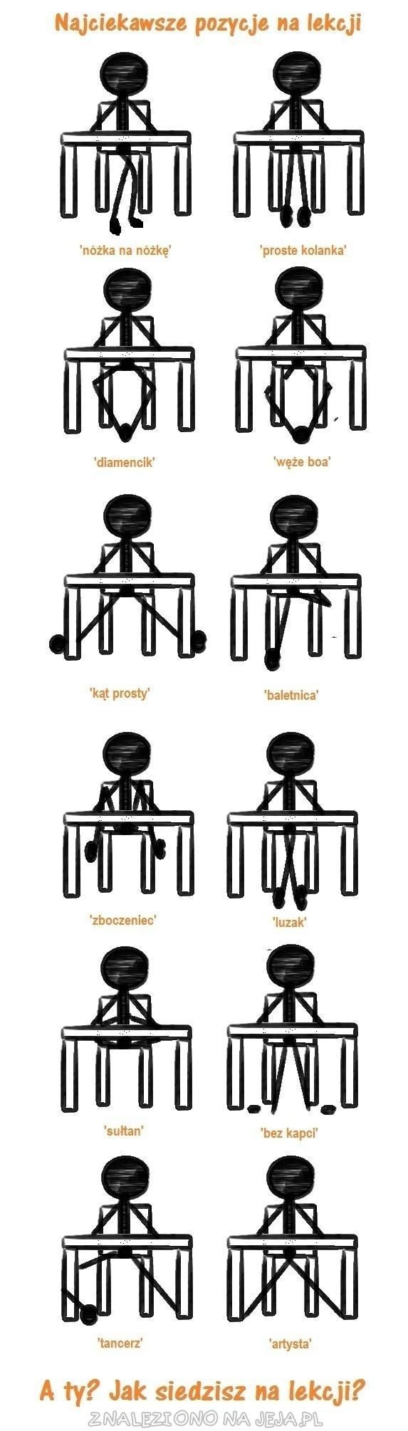Najciekawsze pozycje na lekcji