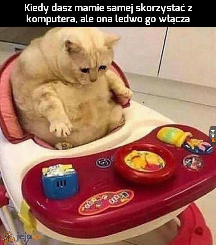 Synu, pomóż...