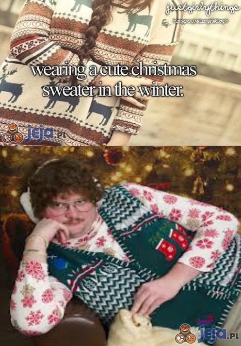 Zimowy sweterek