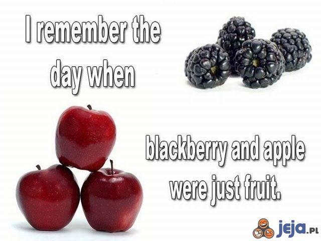 Jeżyna i jabłko
