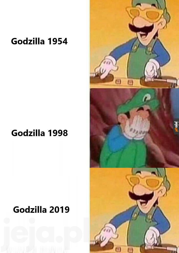 Godzilla na przestrzeni lat