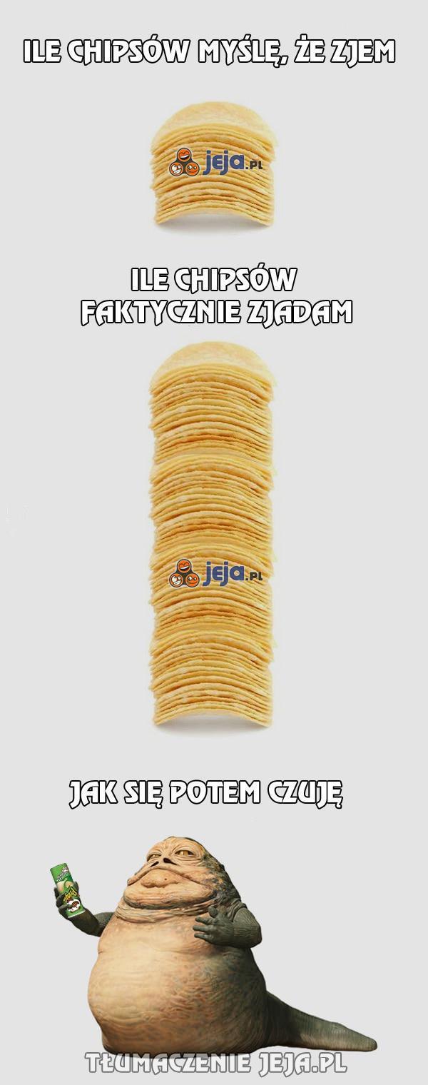 Za każdym razem, gdy jem chipsy