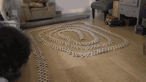 Domino z patyków do lodów