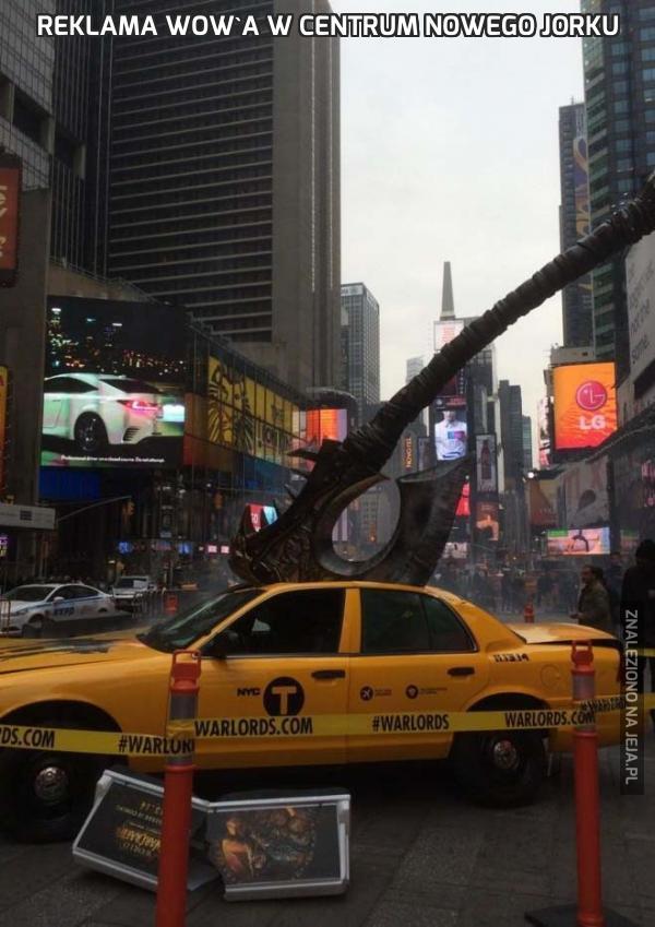 Reklama WoW'a w centrum Nowego Jorku