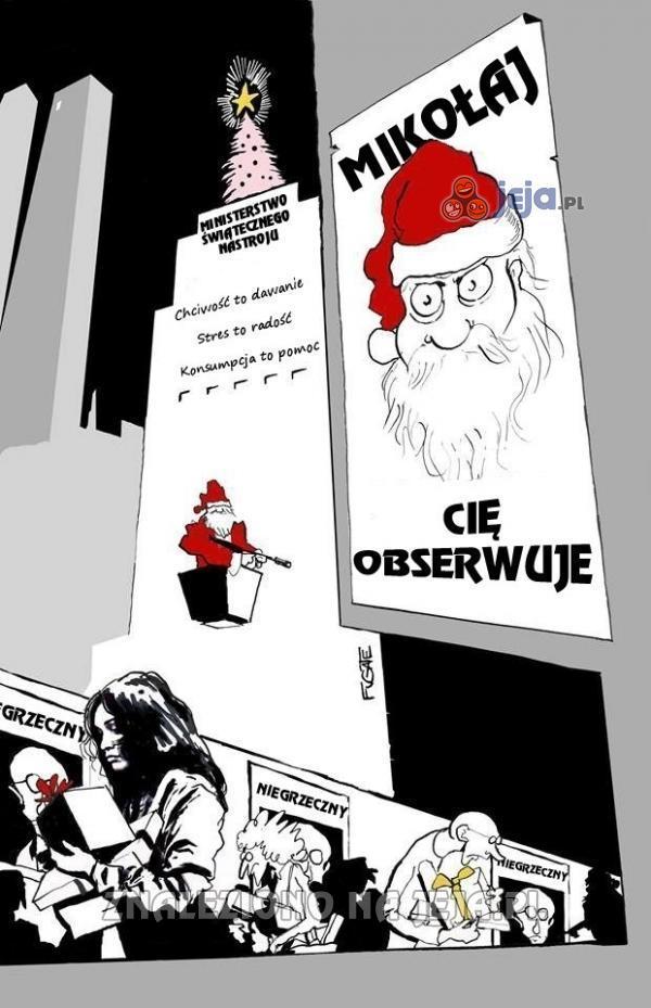 Mikołaj Cię obserwuje