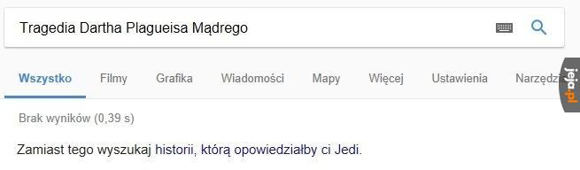 Google pomaga szerzyć kłamstwa Jedi