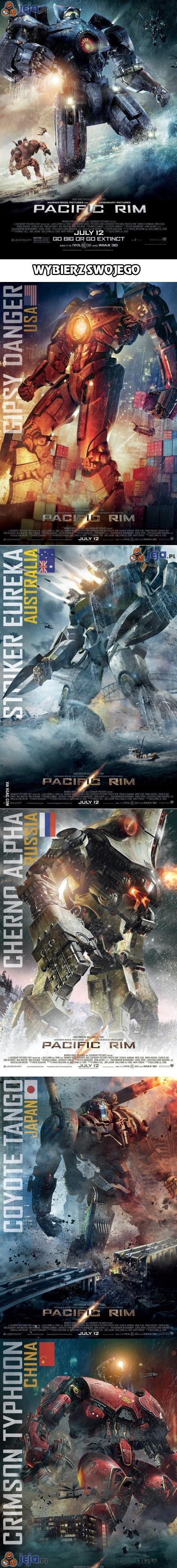 Pacific Rim - wybierz swojego robota
