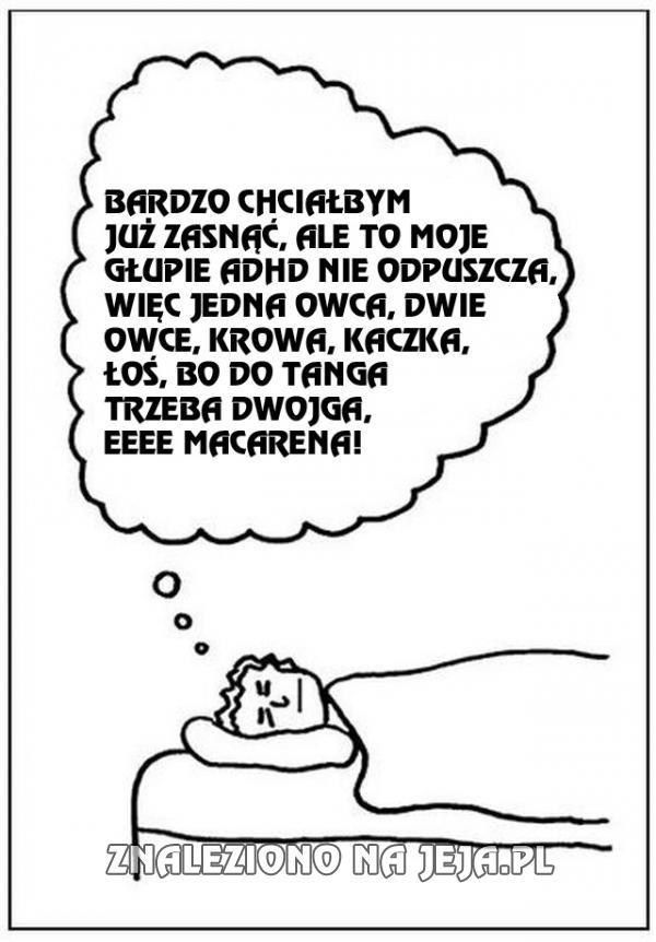 Tak trudno zasnąć...