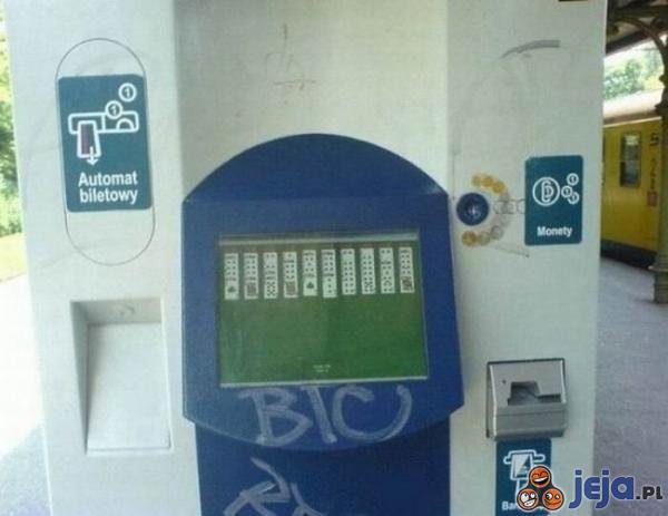 Ukryte funkcje automatu biletowego