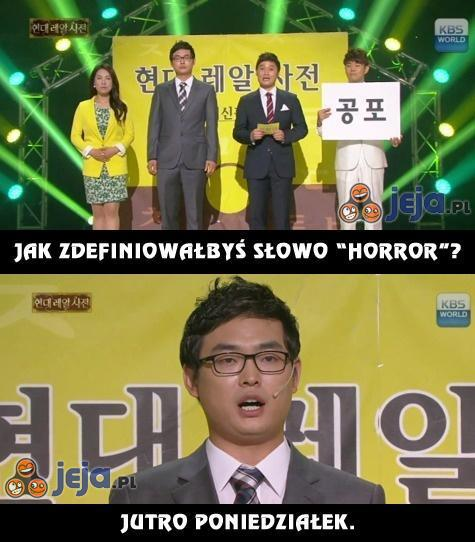 """Definicja słowa """"horror""""?"""