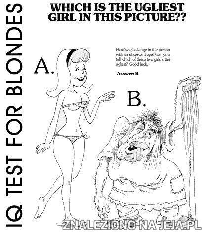 Test IQ - Najbrzydsza dziewczyna