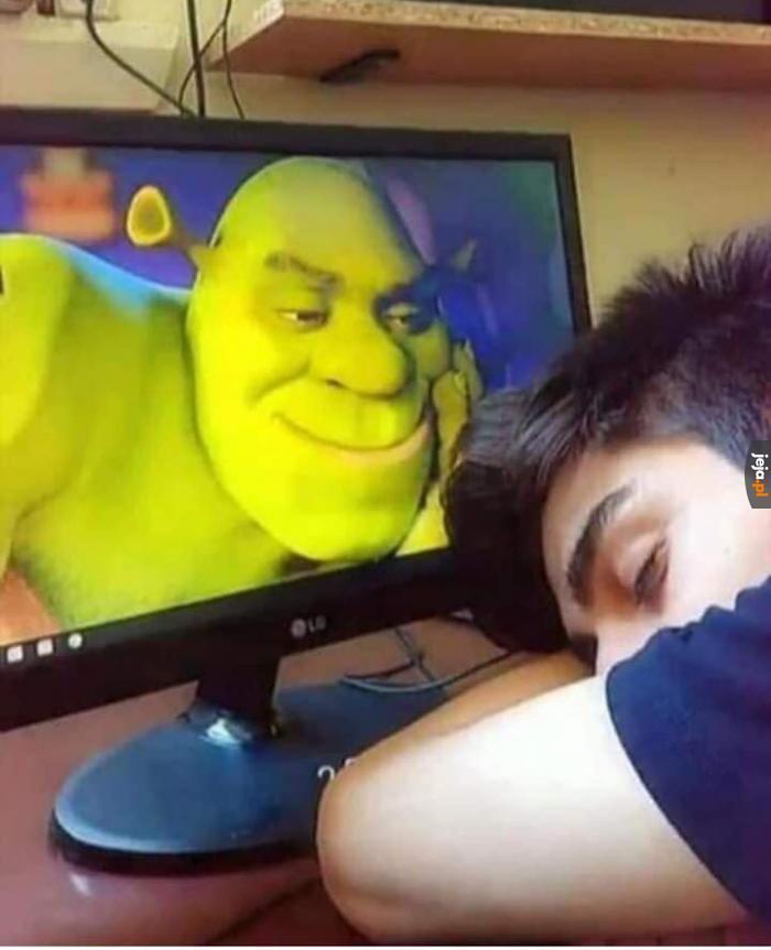 On zawsze patrzy, kiedy śpisz...