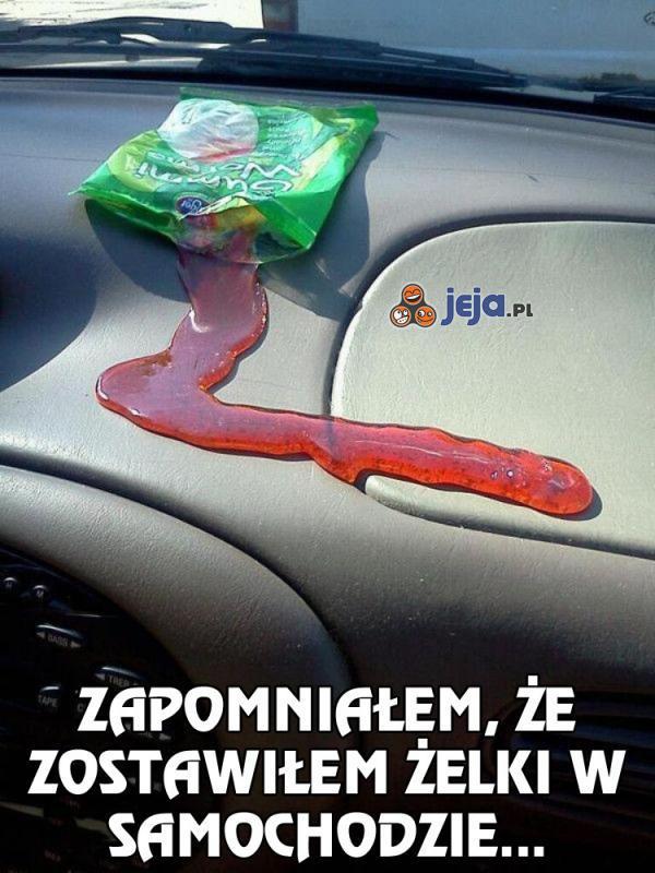 Zapomniałem, że zostawiłem żelki w samochodzie...