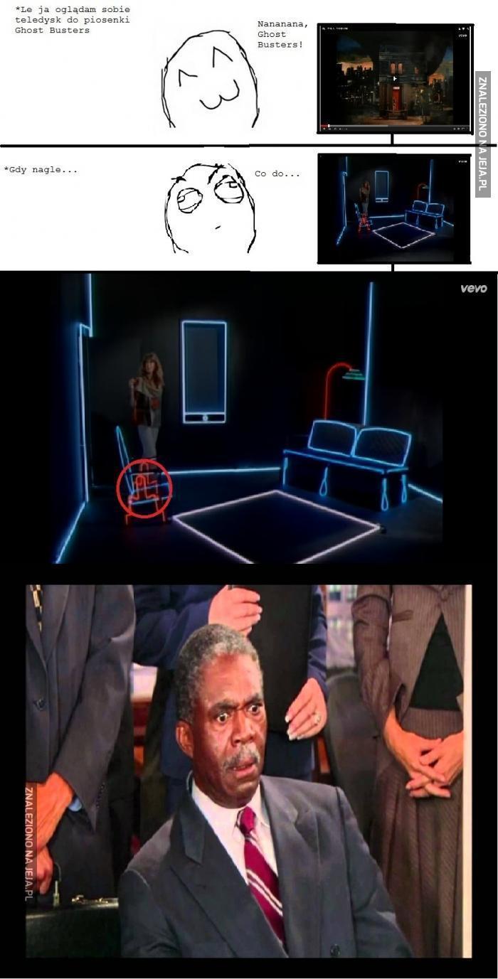 Podejrzane krzesła z teledysku Ghost Busters