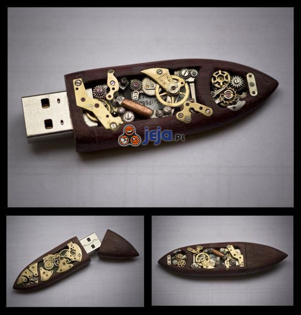 Steampunkowy pendrive