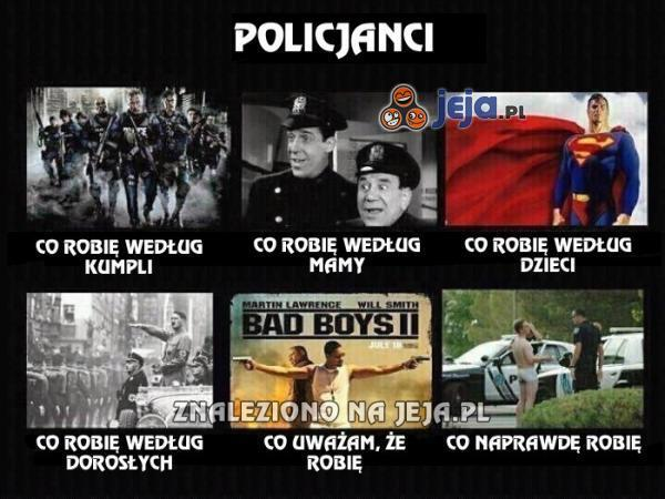 Policjanci z kilku perspektyw