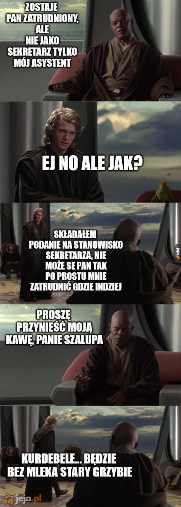 Anakin szuka roboty