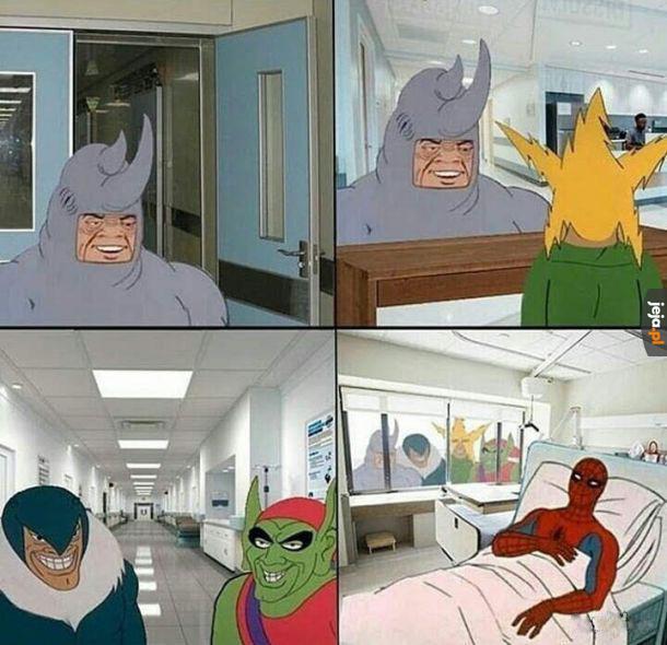 Ja z ziomkami odwiedzamy kolegę w szpitalu