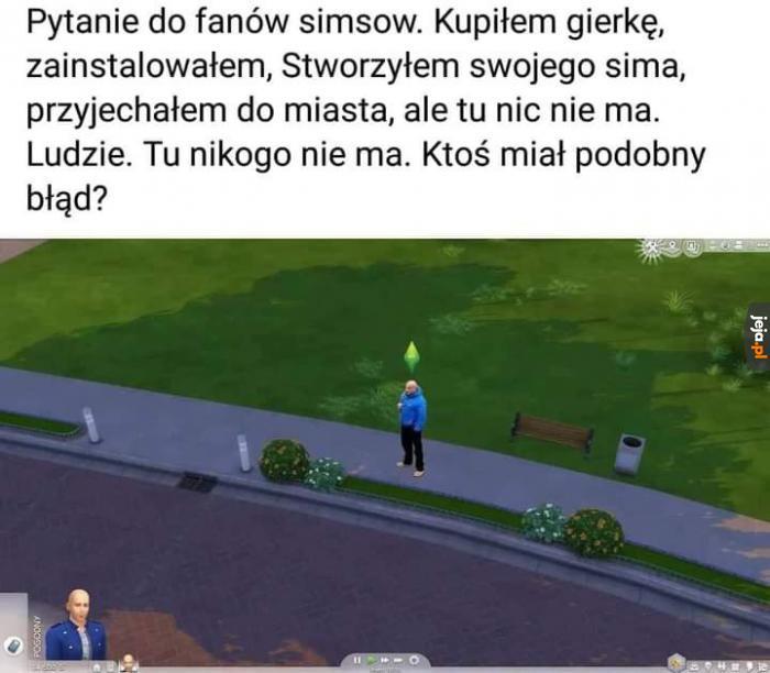 Problem z Simsami